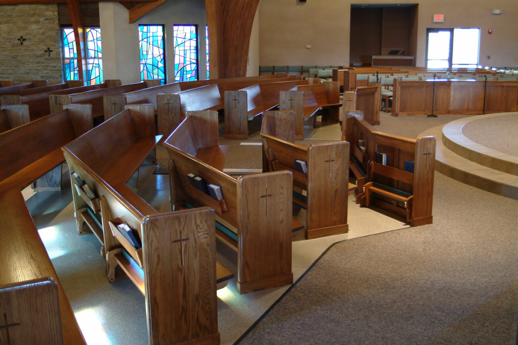 Our Lady of Lordes church pew project