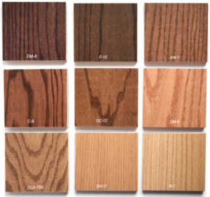 church pew stain options